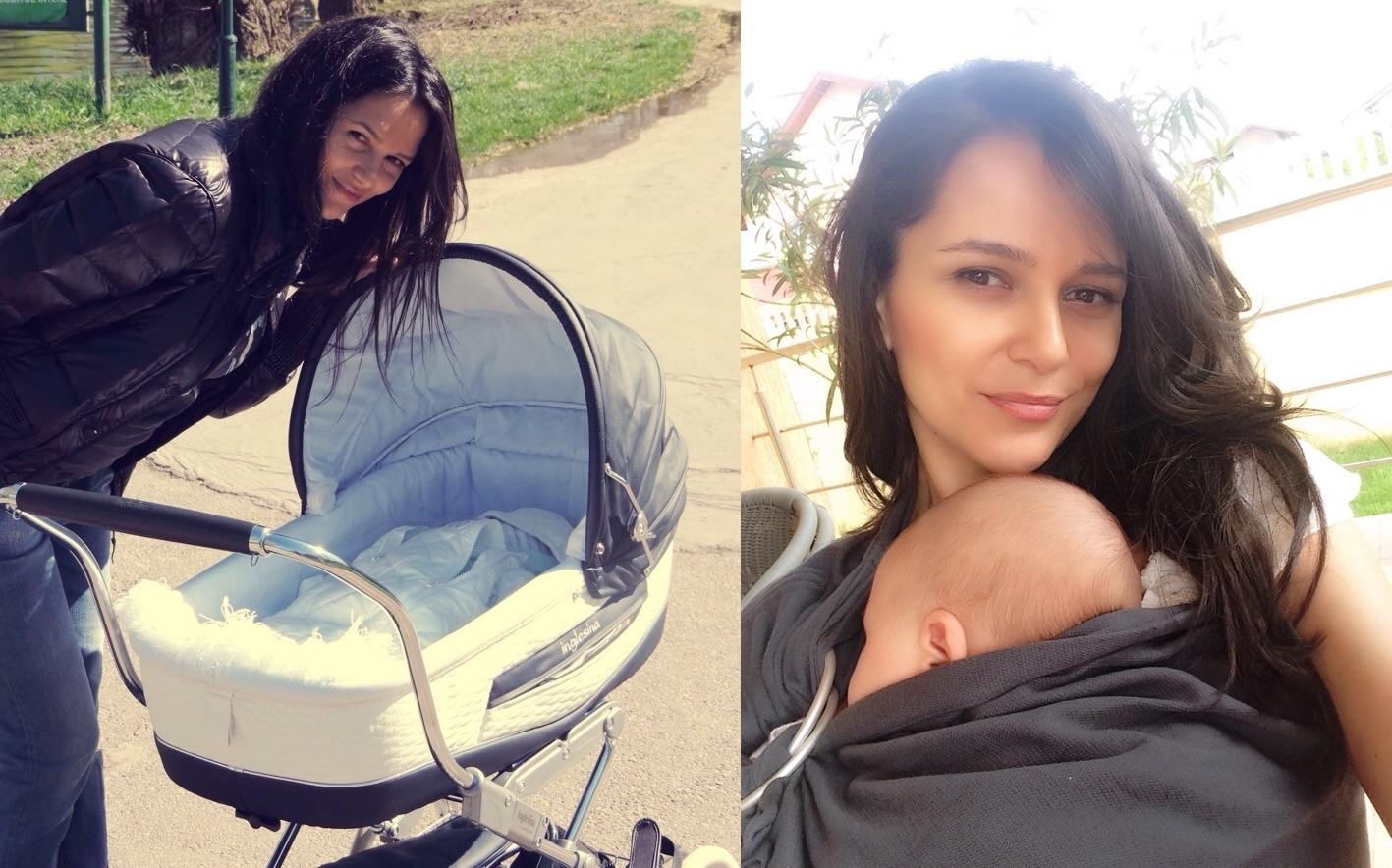 Ruxandra Luca purtatul bebelusuului, carucior, sling cu inele