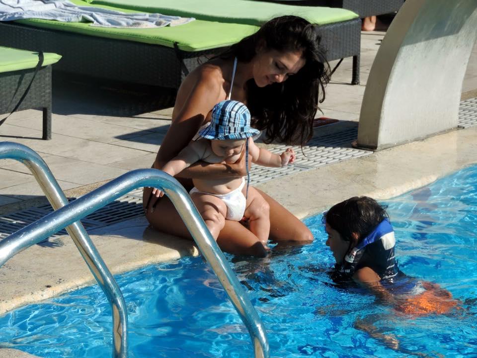 Ruxandra Luca mare, vacanta cu copiii