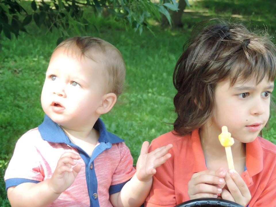 Ruxandra Luca, zi de weekend in parc