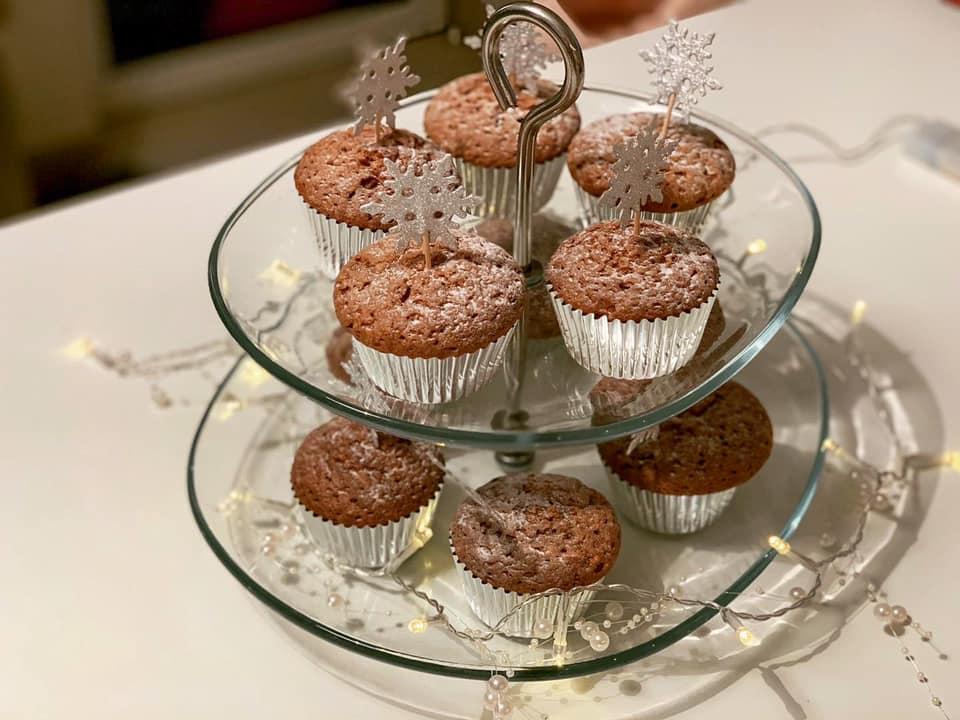 Brioșe cu ciocolată pentru Moș Crăciun